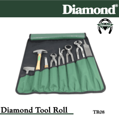 31-TR08, Diamond Catalog Number TR08, Diamond Farrier TR08 8-Piece Tool Roll