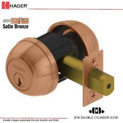 Hager 3114 2-3/8 US10 SCC KD Grade 1 Deadlock Stock No 122863