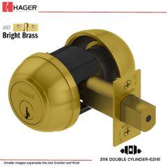 Hager 3114 2-3/8 US3 SCC KA Grade 1 Deadlock Stock No 118532