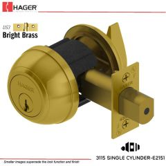 Hager 3115 2-3/8 US3 NC IC Grade 1 Deadlock Stock No 144372