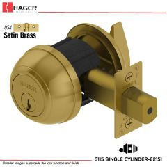 Hager 3115 2-3/4 US4 C60 KD Grade 1 Deadlock Stock No 147048