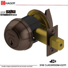 Hager 3118 2-3/8 US10B SCC SK Grade 1 Deadlock Stock No 142960