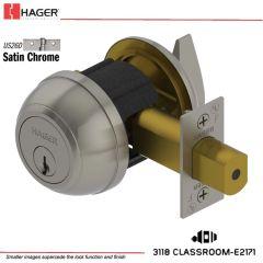 Hager 3118 2-3/4 US26D SCC KA ASA1D Grade 1 Deadlock Stock No 148867