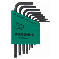 Bondhus Torx End Short Arm L-Wrench 8pc Set (TLXS8S) Corrosion Resistant