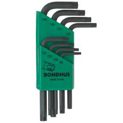 Bondhus Torx End Short Arm L-Wrench 8pc Set (TLXS8) Corrosion Resistant