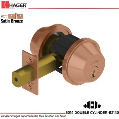 Hager 3214 US10 Deadlock Stock no 012650