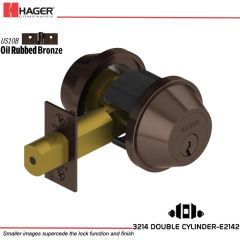 Hager 3214 US10B Deadlock Stock no 123787