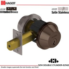 Hager 3214 US10B/US32D Deadlock Stock no 062331