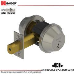 Hager 3214 US26D Deadlock Stock no 124151