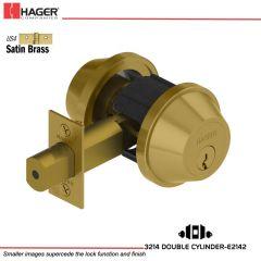Hager 3214 US4 Deadlock Stock no 134112