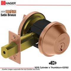Hager 3215 US10 Deadlock Stock no 143729