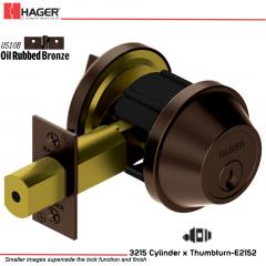 Hager 3215 US10B Deadlock Stock no 148733
