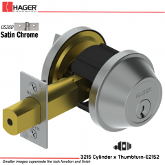 Hager 3215 US26D Deadlock Stock no 148490