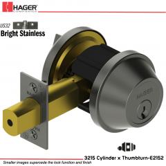 Hager 3215 US32 Deadlock Stock no 140554