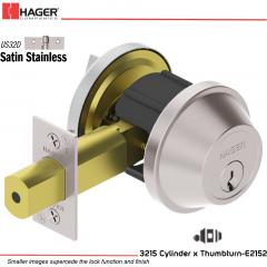 Hager 3215 US32D Deadlock Stock no 124966