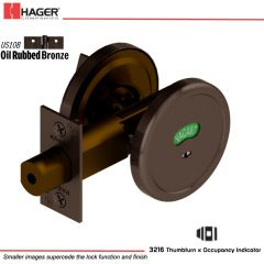 Hager 3216 US10B Deadlock Stock no 143040