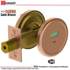 Hager 3216 US10 Deadlock Stock no 143039
