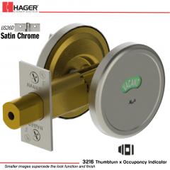 Hager 3216 US26D Deadlock Stock no 175330