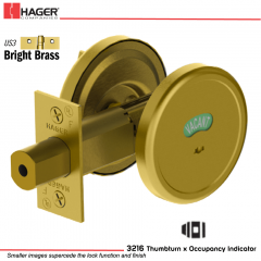 Hager 3216 US3 Deadlock Stock no 143037