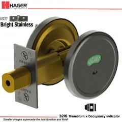 Hager 3216 US32 Deadlock Stock no 143042
