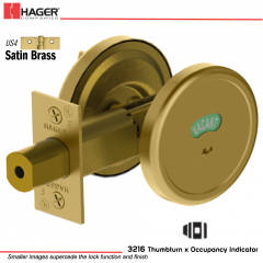 Hager 3216 US4 Deadlock Stock no 143038