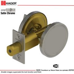 Hager 3220 US26D Deadlock Stock no 118136