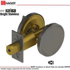 Hager 3220 US32 Deadlock Stock no 111394