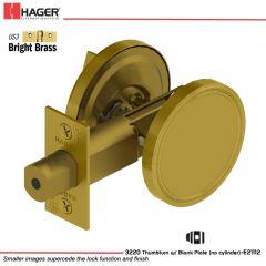Hager 3220 US3 Deadlock Stock no 111393