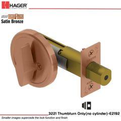 Hager 3221 US10 Deadlock Stock no 111825