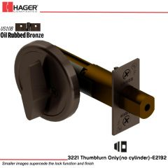Hager 3221 US10B Deadlock Stock no 111832