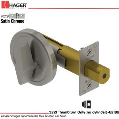 Hager 3221 US26D Deadlock Stock no 118140