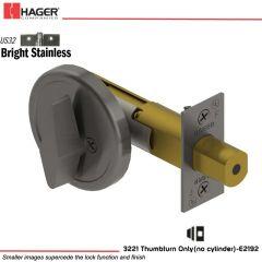 Hager 3221 US32 Deadlock Stock no 111834
