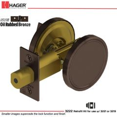 Hager 3220 US10B Deadlock Stock no 111392