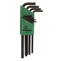 Bondhus Torx End Long Arm L-Wrench 8pc Set (TR-TL8) for Tamper Resistant Screws