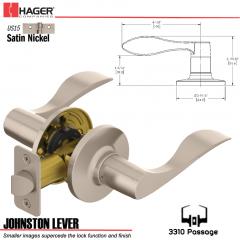 Hager 3310 Johnston Lever Tubular Leverset US15 Stock No 144927