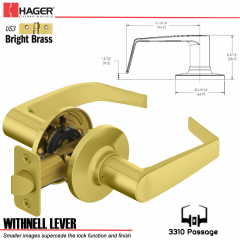 Hager 3310 Withnell Lever Tubular Leverset US3 Stock No 197168