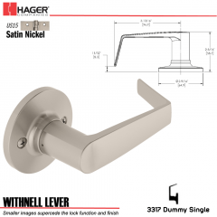 Hager 3317 Withnell Lever Tubular Leverset US15 Stock No 144788