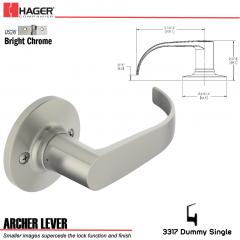 Hager 3317 Archer Lever Tubular Leverset US26 Stock No 197225