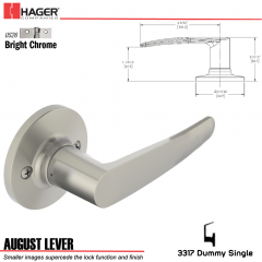 Hager 3317 August Lever Tubular Leverset US26 Stock No 197210
