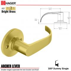 Hager 3317 Archer Lever Tubular Leverset US3 Stock No 197226
