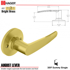 Hager 3317 August Lever Tubular Leverset US3 Stock No 197211