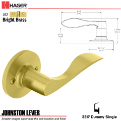 Hager 3317 Johnston Lever RH Tubular Leverset US3 Stock No 197267