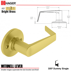Hager 3317 Withnell Lever Tubular Leverset US3 Stock No 197199