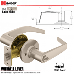 Hager 3353 Withnell Lever Tubular Leverset US15 Stock No 144765