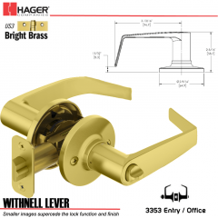 Hager 3353 Withnell Lever Tubular Leverset US3 Stock No 197174