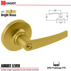 Hager 3410 August Lever Lockset US3 Stock No 041082