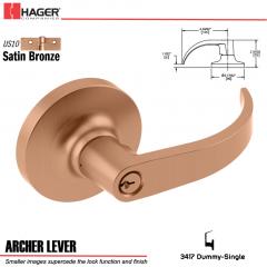 Hager 3417 Archer Lever Lockset US10 Stock No 012576