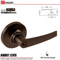 Hager 3417 August Lever Lockset US10B Stock No 028542