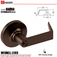 Hager 3417 Withnell Lever Lockset US10B Stock No 012570