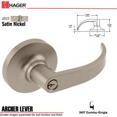 Hager 3417 Archer Lever Lockset US15 Stock No 132121